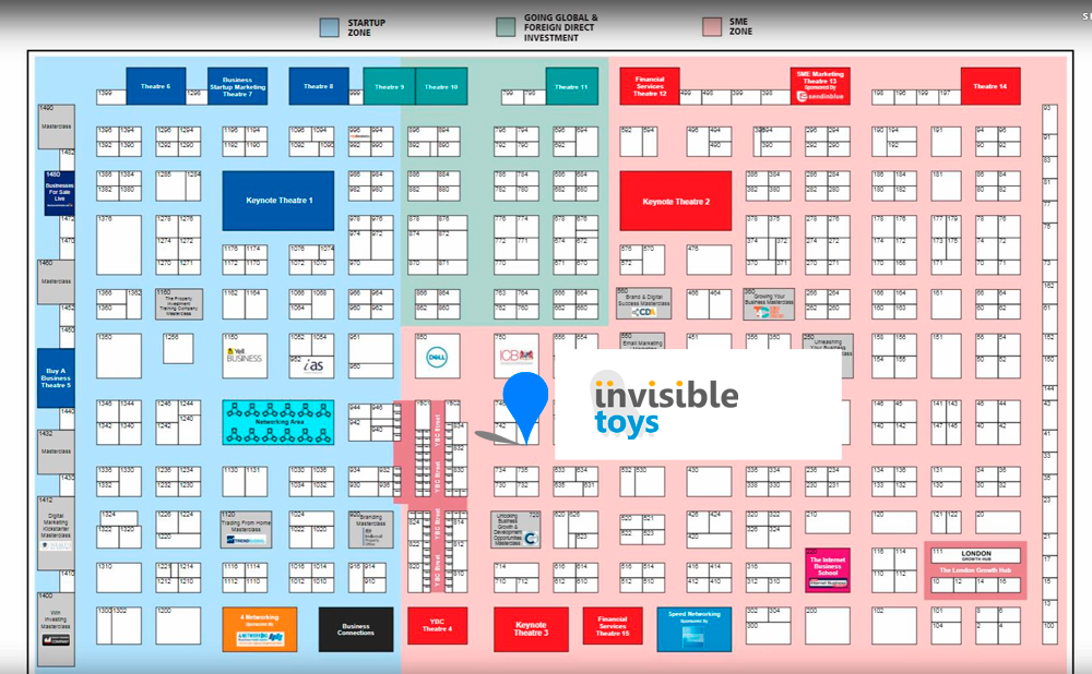 Invisible Toys at UK's Largest Business Exhibition