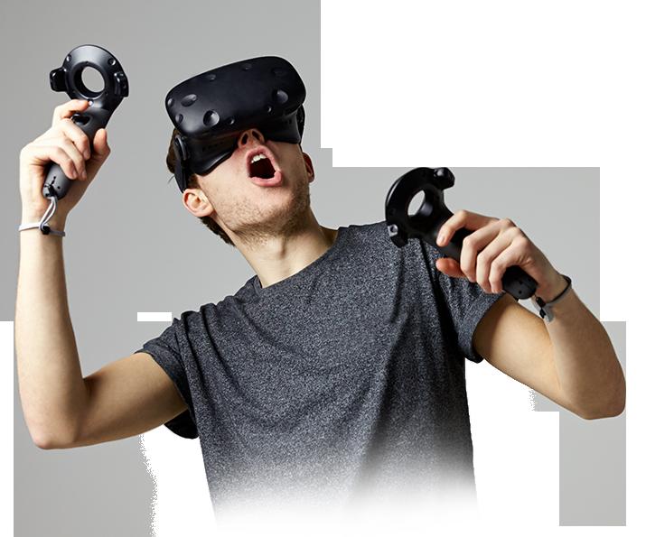 Girl with VR helmet